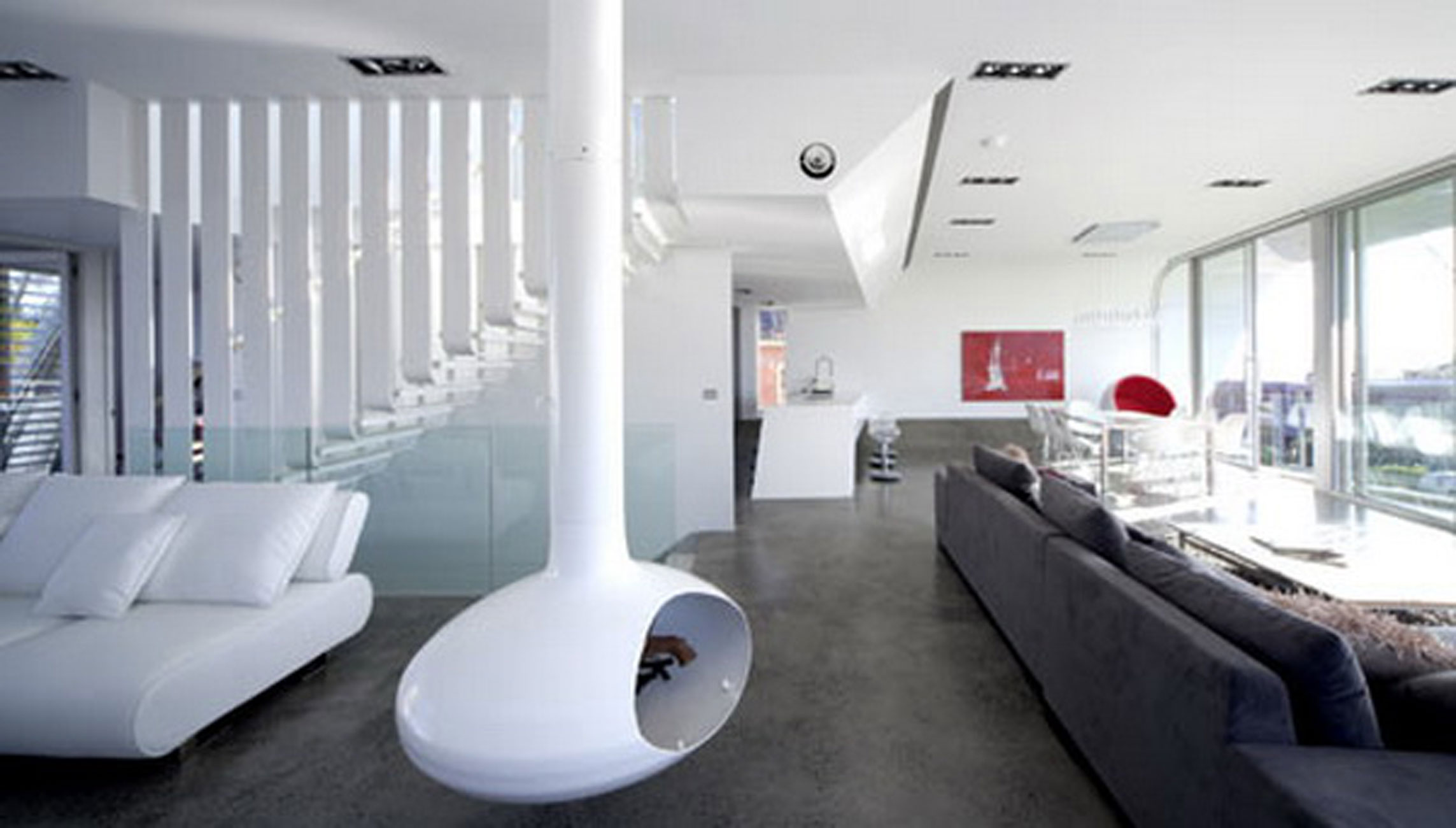 Future House Concept Moebius House From Tony Owen Partners Livingroom