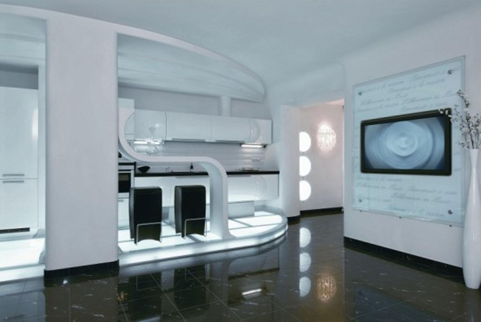 Modern Futuristic Apartment Ideas In Ukraine Interior