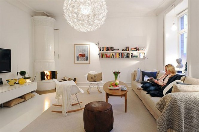 White Apartment Interior Ideas In Sweden