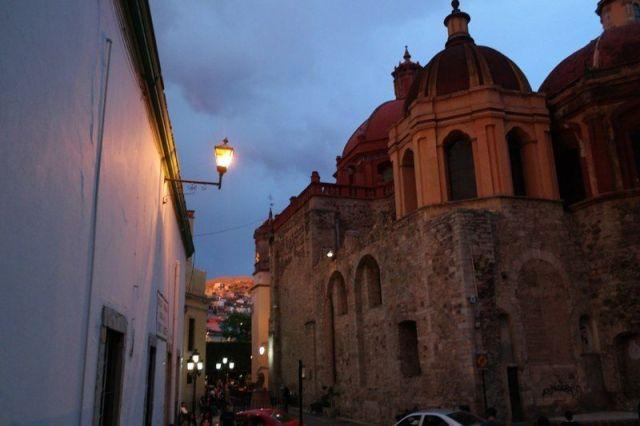 El bello Guanajuato de noche.