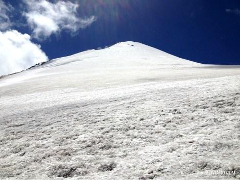 El gran glaciar del Pico de Orizaba