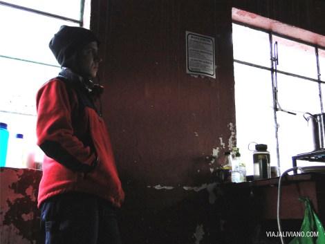 En el Refugio Piedra Grande