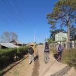 Iniciando la caminata en Kalaw