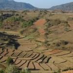 Terrazas de arroz, no se cultiva en la temporada seca