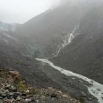 El extremo del Glaciar Fox