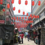 Calle comercial en Chinatown