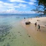 La zona de snorkeling en Manukan