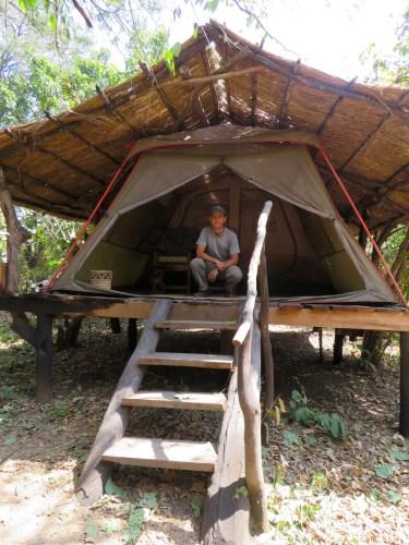 Nuestra carpa en Liwonde Safari Camp