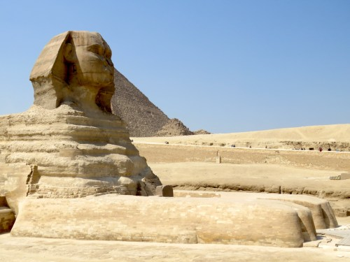 Esfinge y piramides Guiza Egipto
