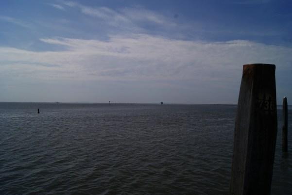 Paisajes marinos de la isla Schiermonnikoog en Holanda