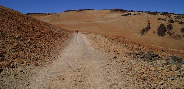Camino hacia el paisaje Lunar, Tenerife