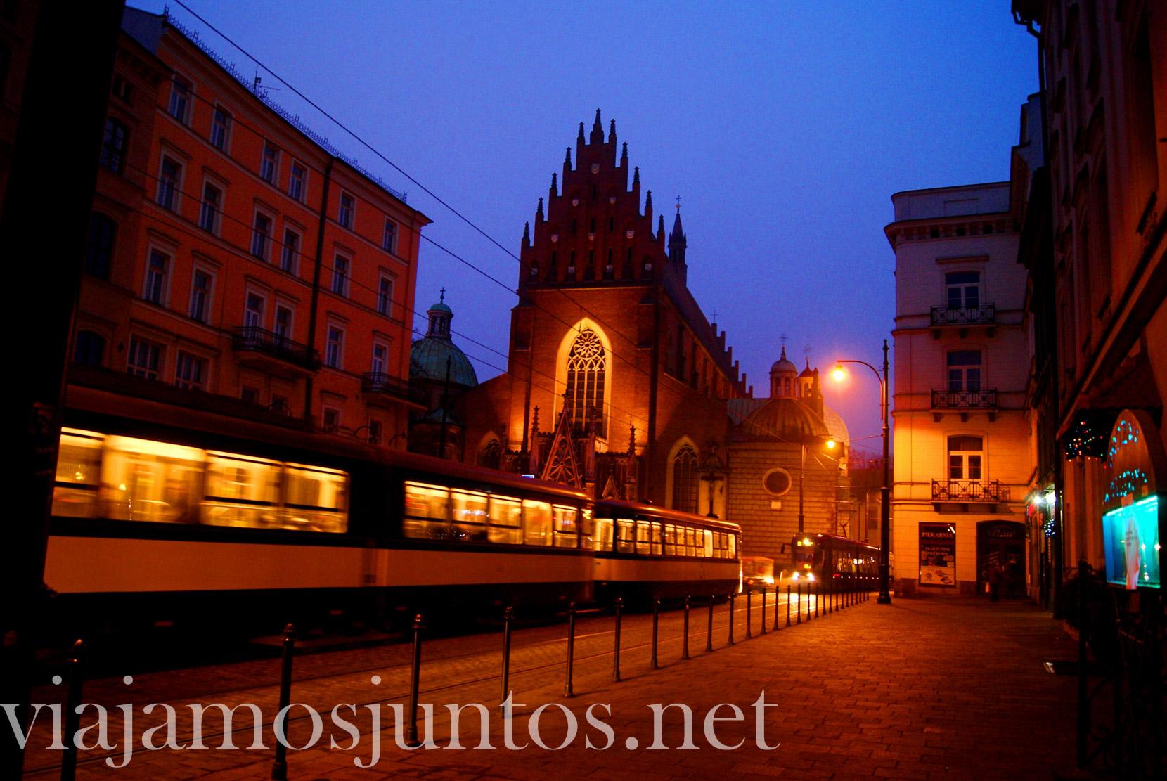 Que ver en Cracovia, Polonia; de noche