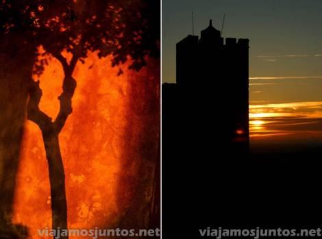 Castillo de Palmela, Portugal. Juegos del atardecer