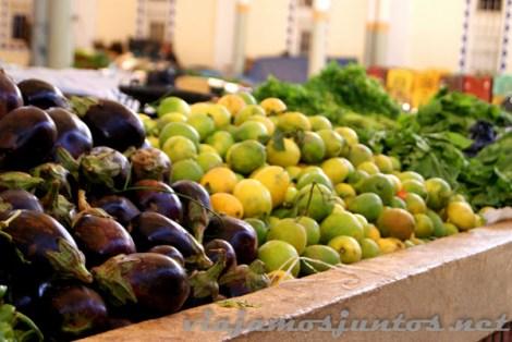 Mercado de Túnez: fruta