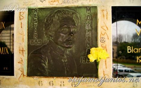 Makhno. Cementerios de París, Pere Lachaise. Francia