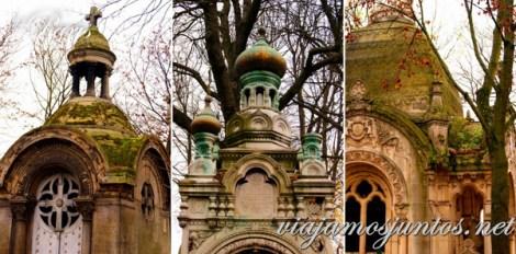 Capillas elegantes del cementerio Pere Lachaise. Cementerios de París, Pere Lachaise. Francia