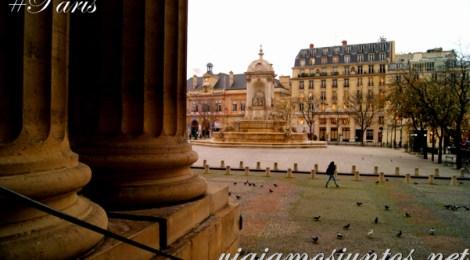Vistas desde la Iglesia de Saint Sulpice, París, Francia.