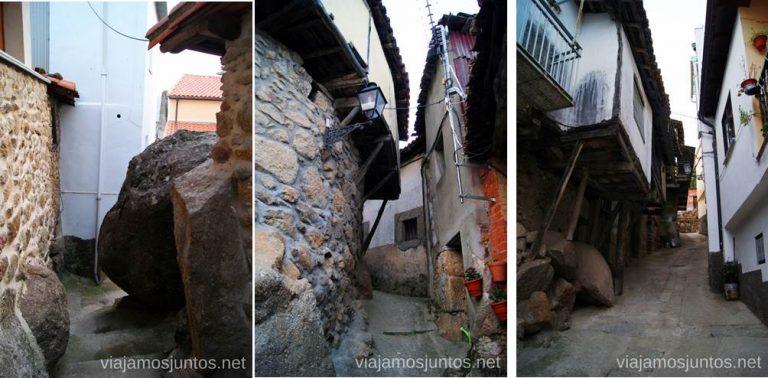 Paseando por Rebollar. Calles estrechas y rocosas Pueblos con encanto del Valle del Jerte