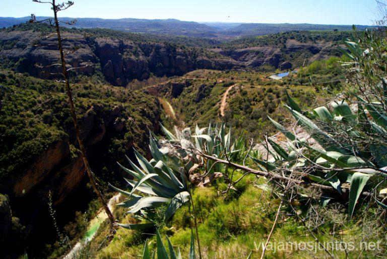 A vista del pájaro Que ver y que hacer en Alquezar, Huesca, Aragón.
