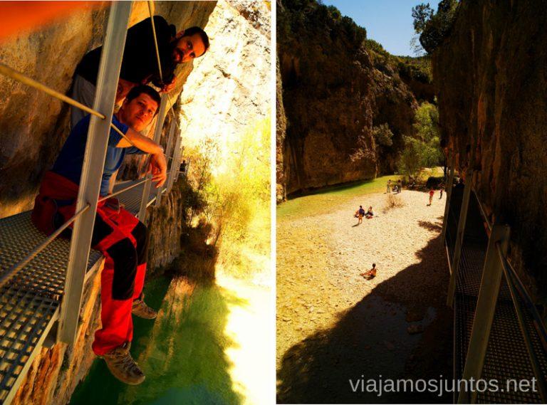 La ruta suspendida Que ver y que hacer en Alquezar, Huesca, Aragón.