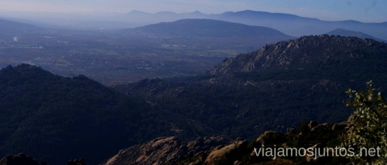 Montaña y más montaña al fondo Ruta el Yelmo Manzanares el Real Madrid
