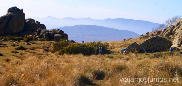 Las montañas azules Ruta el Yelmo Manzanares el Real Madrid