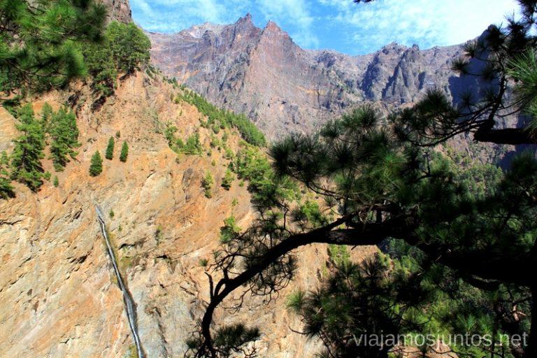 Mirador de la cascada Ruta de la Caldera de Taburiente, La Palma, Islas Canarias