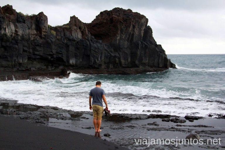 Paisajes inspirados en Islandia Las playas de la Palma, Islas Canarias. Mejores playas.