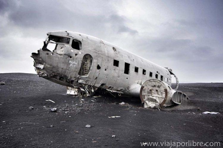 avion estrellado