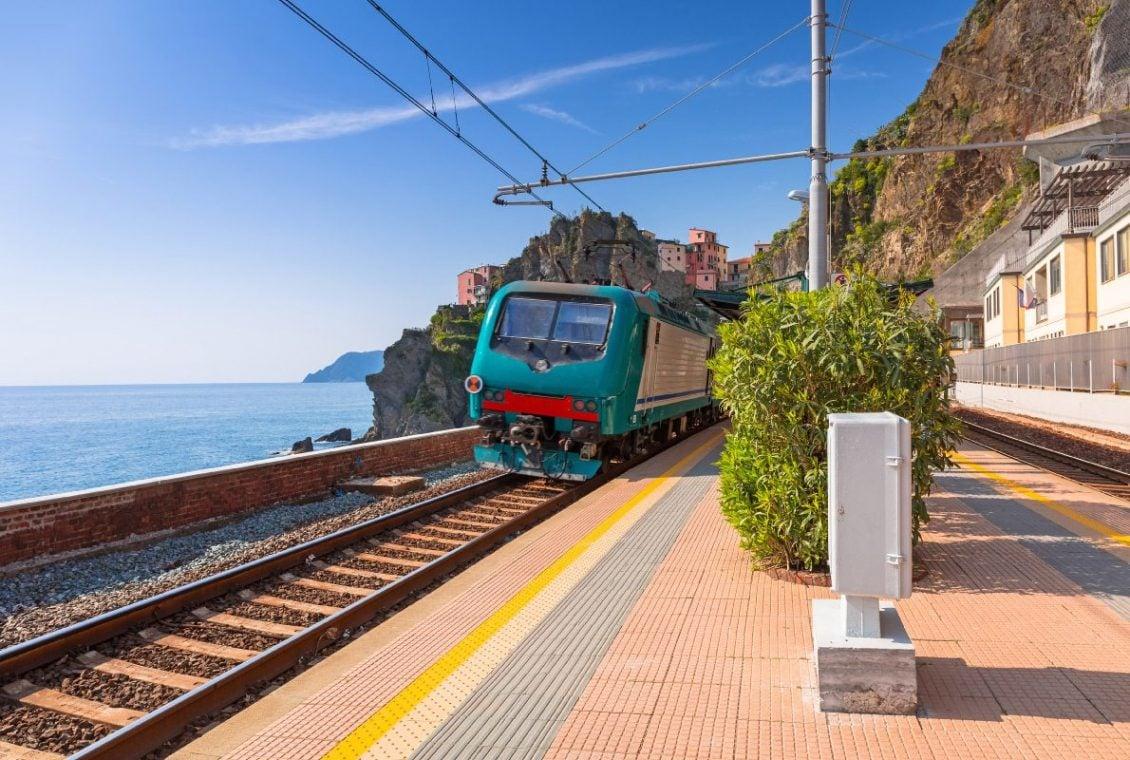 viagem de trem pela italia