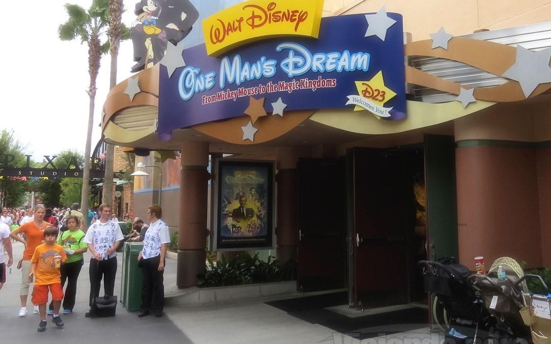 Walt Disney Presents será o novo nome da atração Walt Disney: One Man's Dream