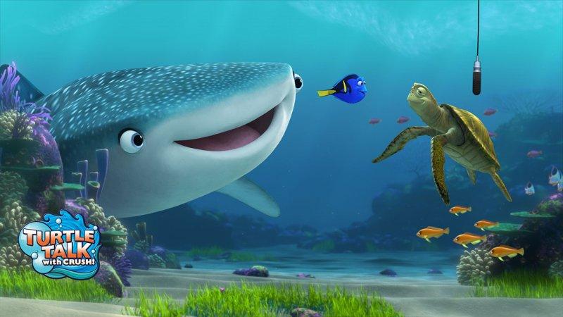 Personagens de Finding Dory estarão na atração Turtle Talk With Crush a partir de maio de 2016