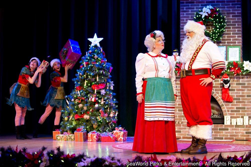 Shows noturnos e jantar com o Papai Noel são os destaques da programação de Natal do SeaWorld
