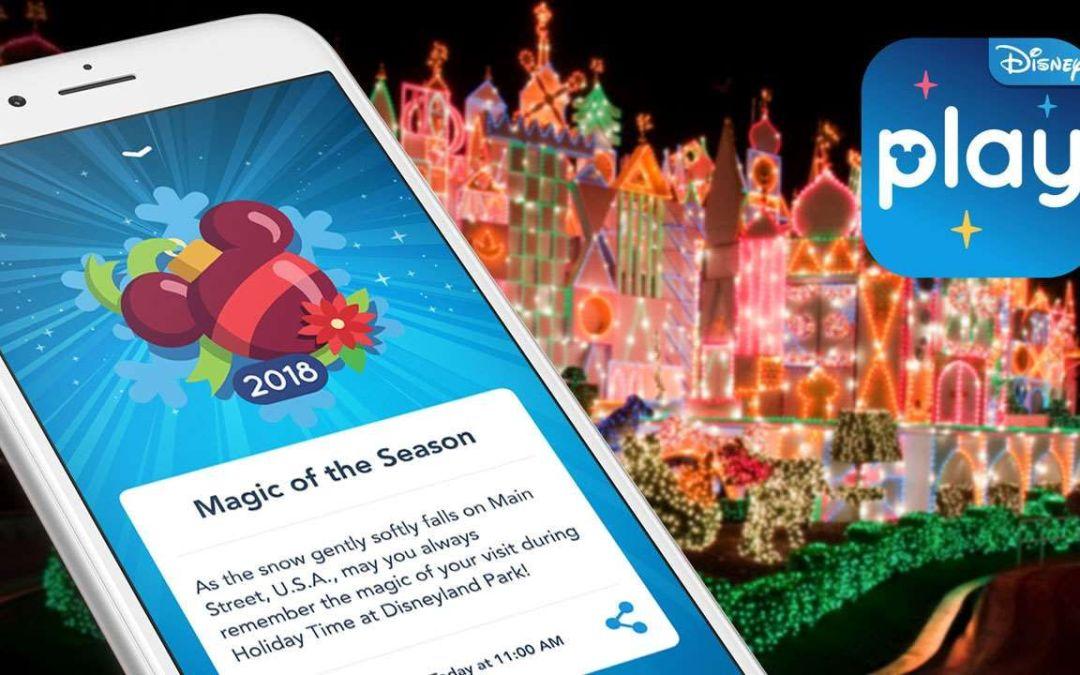O Play Disney Parks App conta com novidades para celebrar as festas de fim de ano