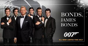 Madame Tussauds Orlando exibirá figuras de cera de James Bond por tempo limitado