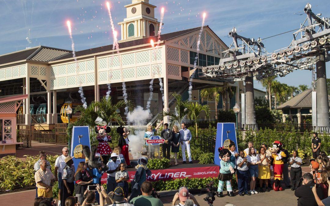 Foi realizada hoje a cerimônia de inauguração do Disney Skyliner