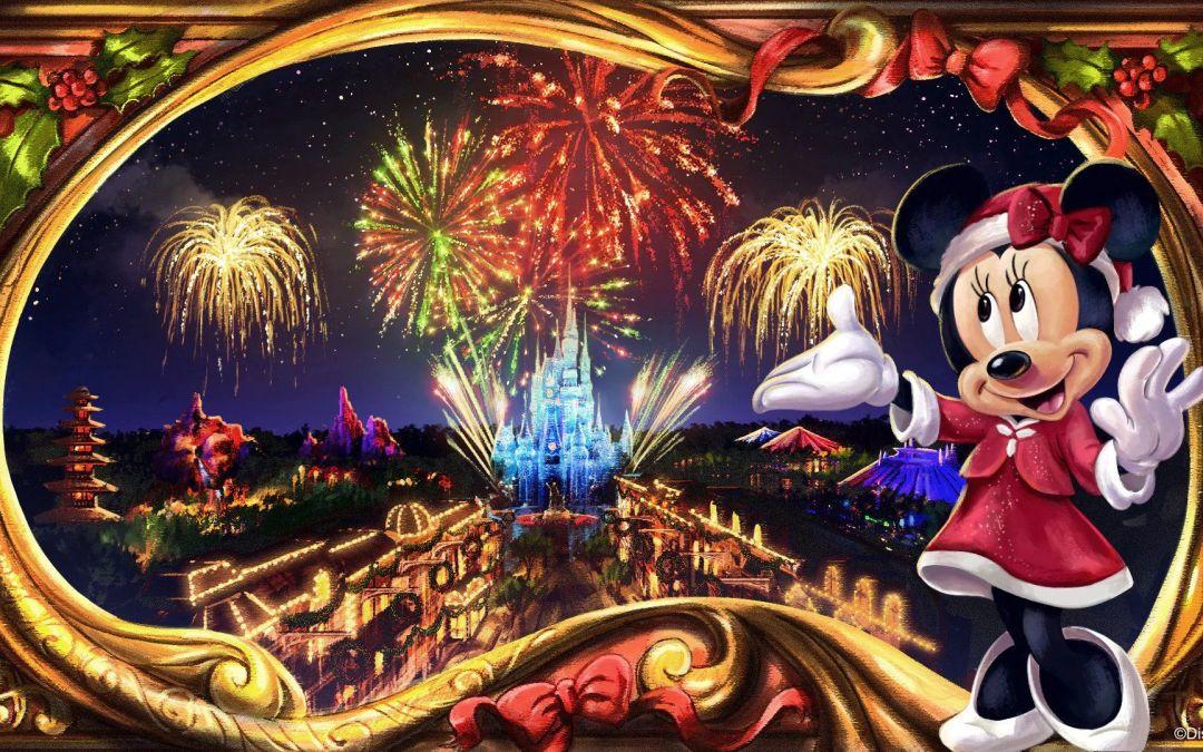 Novo espetáculo de fogos Minnie's Wonderful Christmastime Fireworks