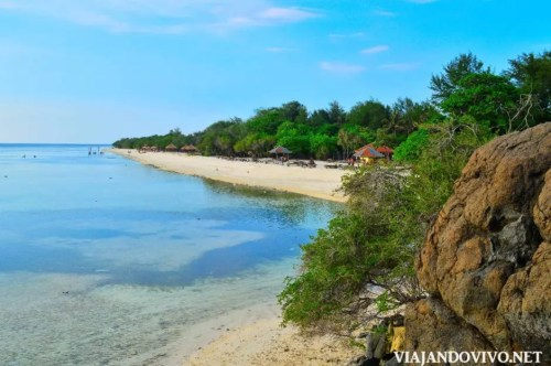 Las playas en Gili Trawangan