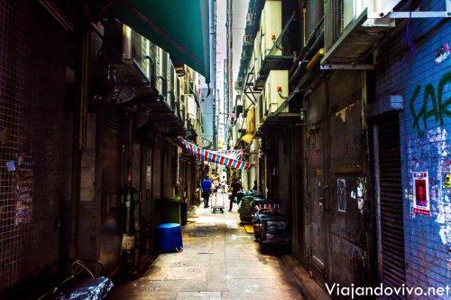 Callejon en Hong Kong