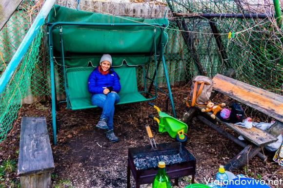 Celeste en una casa de campo en Ekaterimburgo