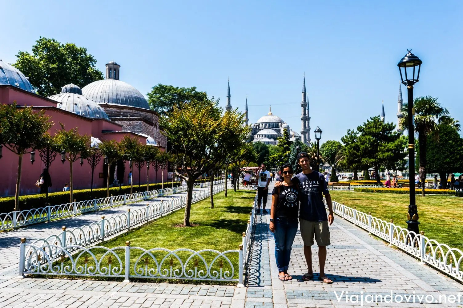 En la mezquita Azul de Estambul