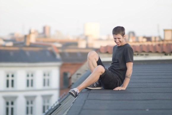 Ariel en los techos de Copenhague