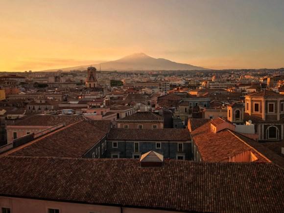 Atardecer en Catania, Sicilia