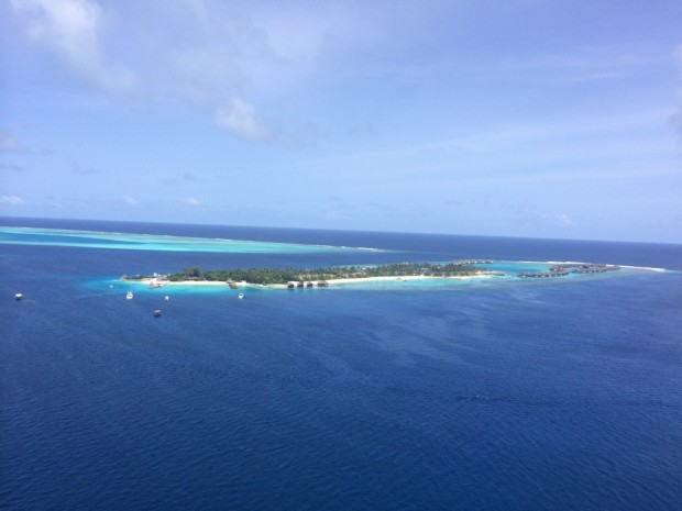 Vista do parasailing