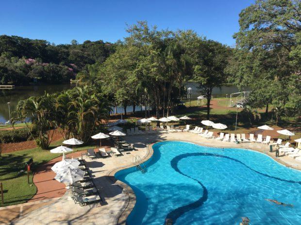 Piscina do Tauá Grande Hotel e Termas de Araxá