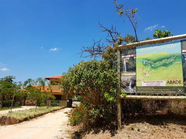 Entrada da Reserva do Abade