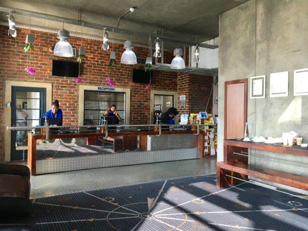 Recepção do Protea Hotel O.R. Tambo