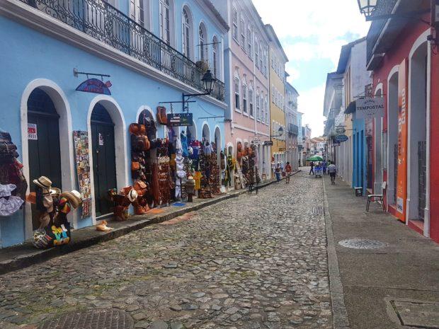 Lojas do Pelourinho no Centro Histórico de Salvador