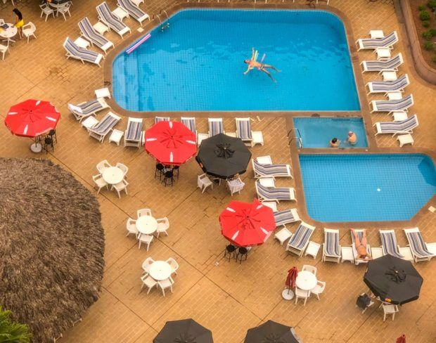 piscinas do Castro's Hotel em Goiânia