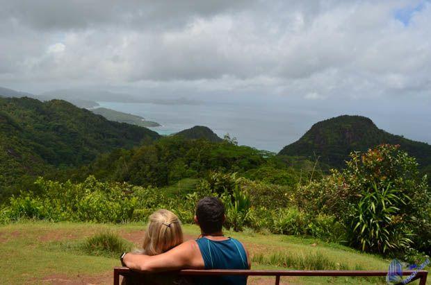 vista no Le Sans Soucis em Mahe - Seychelles